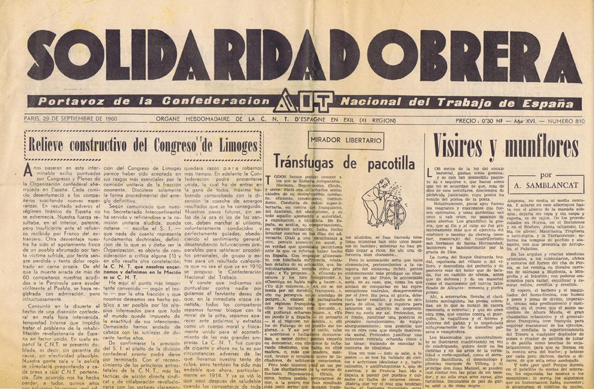 Solidaridad obrera AIT 1944-1960