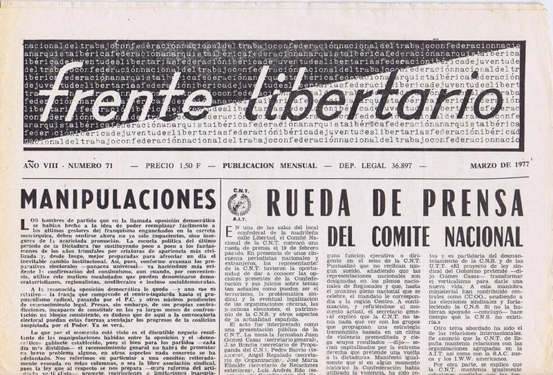 Frente libertario 1970-1977